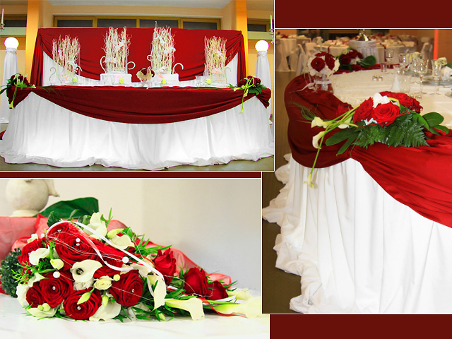 Wedding decoration ideas in red and scarlett colours are the last word in