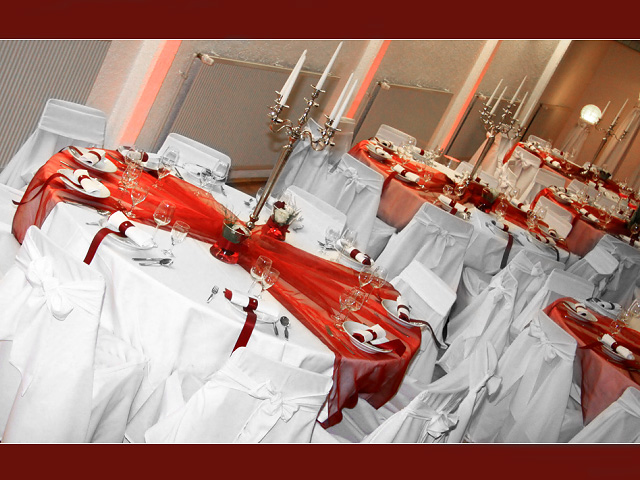 Wedding tables are the central part of the wedding reception hall and of